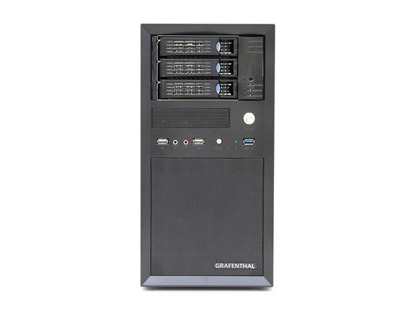 "GRAFENTHAL TOWER SERVER T1003 S2 INTEL XEON E3-1230V5 8GB 3x3.5"" HS BAYS DUAL GBIT NIC REMOTE 350W P"