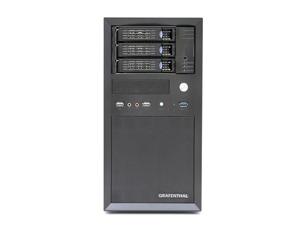 "GRAFENTHAL TOWER SERVER T1003 S2 INTEL XEON E3-1230V6 8GB 3x3.5"" HS BAYS DUAL GBIT NIC REMOTE 350W P"